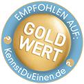 Bewertungssigel Gold Kennstdueinen.de